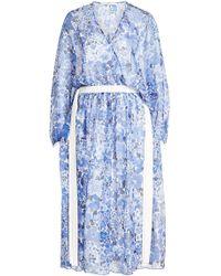 Agnona - Printed Silk Chiffon Dress - Lyst