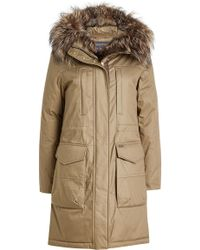 Woolrich - Essex Military Down Parka With Fur-trimmed Hood - Lyst