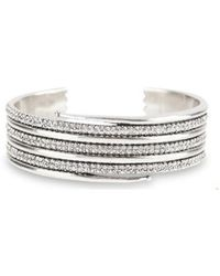 Luv Aj - Pave Coil Bangle In Silver - Lyst