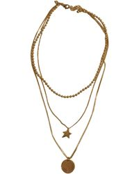 Rebecca Minkoff | Medallion Layered Necklace | Lyst