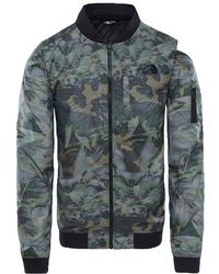 The North Face - Meaford Bomber Jacket English Green Camo - Lyst