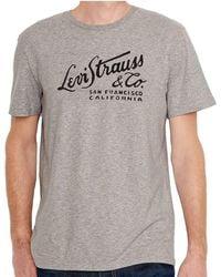 Levi's - Levi's T-shirt Wordmark Script - Lyst