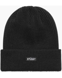 Stussy - Small Patch Watch Cap Beanie - Lyst