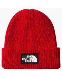 The North Face - The Logo Box Cuff Beanie - Lyst