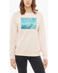 ee25cf00a5 Vans - X Van Gogh Almond Blossom Crewneck Sweatshirt Silver Peony - Lyst