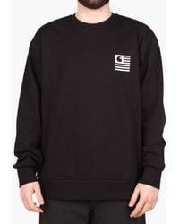 4620f32c Lyst - Carhartt WIP State Patch Sweatshirt in Black for Men