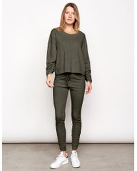 Sundry - Shirred Sleeve Sweatshirt - Lyst