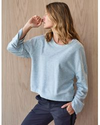 Sundry - Shirred Sleeve Sweatshirt - Lyst