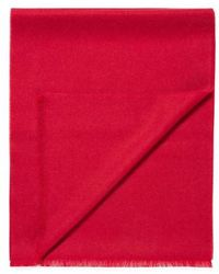 Sunspel - Extra Fine Merino Wool Scarf In Ruby Red - Lyst
