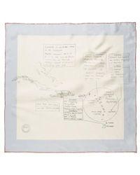 Sunspel - Women's Printed Silk Scarf In Natural - Lyst