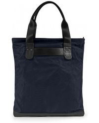 Sunspel - Showerproof Italian Nylon And Leather Tote Bag In Navy - Lyst