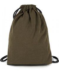 Sunspel - Vintage Wool Kit Bag In Khaki - Lyst