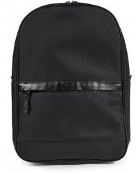 Sunspel - Leather / Nylon Rucksack In Black - Lyst