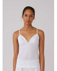 Sunspel - Women's Cellular Cotton Cami In White - Lyst