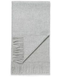 Sunspel - Woven Cashmere Scarf In Grey Melange - Lyst
