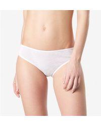 Sunspel - Women's Celluar Cotton Brief In White - Lyst