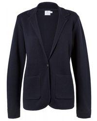 Sunspel - Women's Fine Merino Wool Milano Blazer In Navy - Lyst
