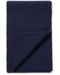 Sunspel - Cashmere Wool Scarf In Navy - Lyst