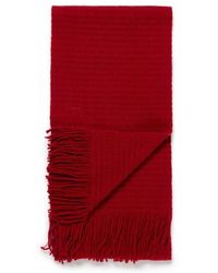 Sunspel - Lambswool Cellular Mesh Scarf In Ruby Red - Lyst