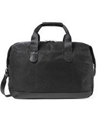 Sunspel - Leather / Nylon 48 Hour Bag In Black - Lyst