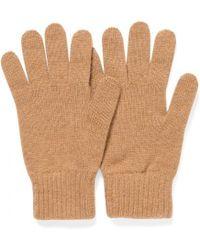 Sunspel - Cashmere Gloves In Camel - Lyst