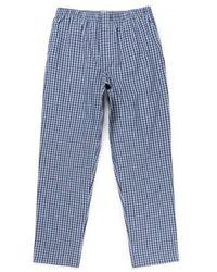 Sunspel - Men's Cotton Pyjama Bottoms In Gingham Blue - Lyst