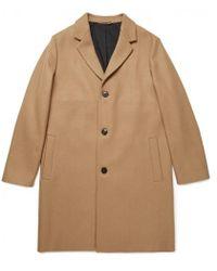 Sunspel - Men's Wool Overcoat In Camel - Lyst