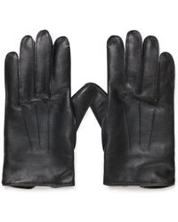 Sunspel - Men's X Dents Leather Gloves With Cashmere Lining In Black - Lyst