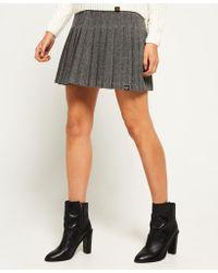 Superdry - Pleated Tweed Skirt - Lyst