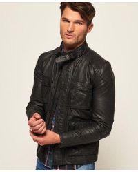 Superdry - Rotor Leather 4 Pocket Jacket - Lyst