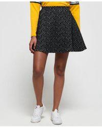 Superdry - Riley Textured Skater Skirt - Lyst