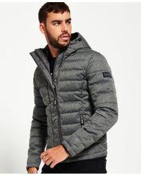 Superdry - Double Zip Tweed Fuji Hooded Jacket - Lyst