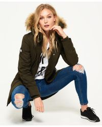 Superdry - New Model Microfibre Parka Jacket - Lyst