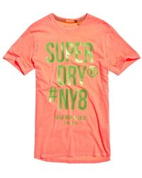 Superdry - Surplus Goods Longline Graphic T-shirt - Lyst