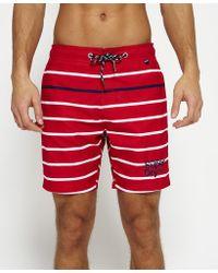 Superdry | Vacation Stripe Swim Shorts | Lyst