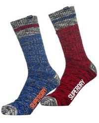 Superdry - Big Mountaineer Socks Double Pack - Lyst
