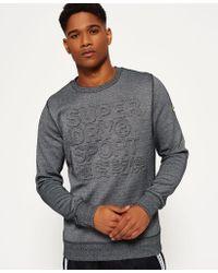 Superdry | Gym Tech Embossed Crew Neck Sweatshirt | Lyst