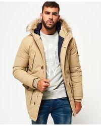 Superdry | Faux Fur Trimmed Everest Coat | Lyst