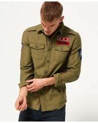 Superdry - Army Corps Long Sleeve Shirt - Lyst