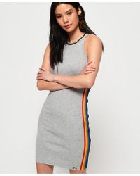 04ab30db103 Lyst - TOPSHOP Colour Block Sporty Tunic in Gray