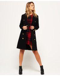 Superdry - Priya Long Military Wool Coat - Lyst