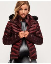 Superdry - Hooded Luxe Chevron Fuji Jacket - Lyst