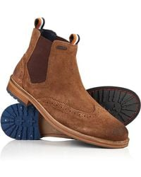 Superdry - Brad Brogue Suede Chelsea Boots - Lyst