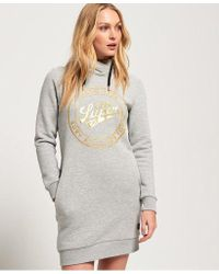 Superdry - Ace Hooded Sweat Dress - Lyst