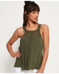 Superdry - Alivia Knot Tank Top - Lyst