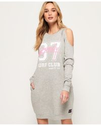 Superdry - Miami Cold Shoulder Sweat Dress - Lyst