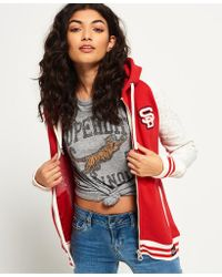 Superdry - Collage Patch Zip Hoodie - Lyst