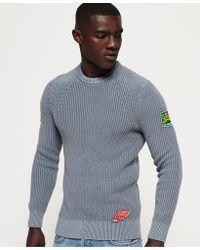 Superdry - Garment Dye Wash Texture Crew Jumper - Lyst