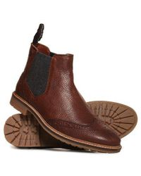 Superdry - Brad Brogue Chelsea Boot - Lyst