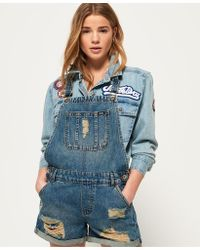 Superdry - Acid Dungaree Boyshorts - Lyst